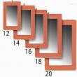 ESPELHO NUMERO 12 15X10cm - 12un